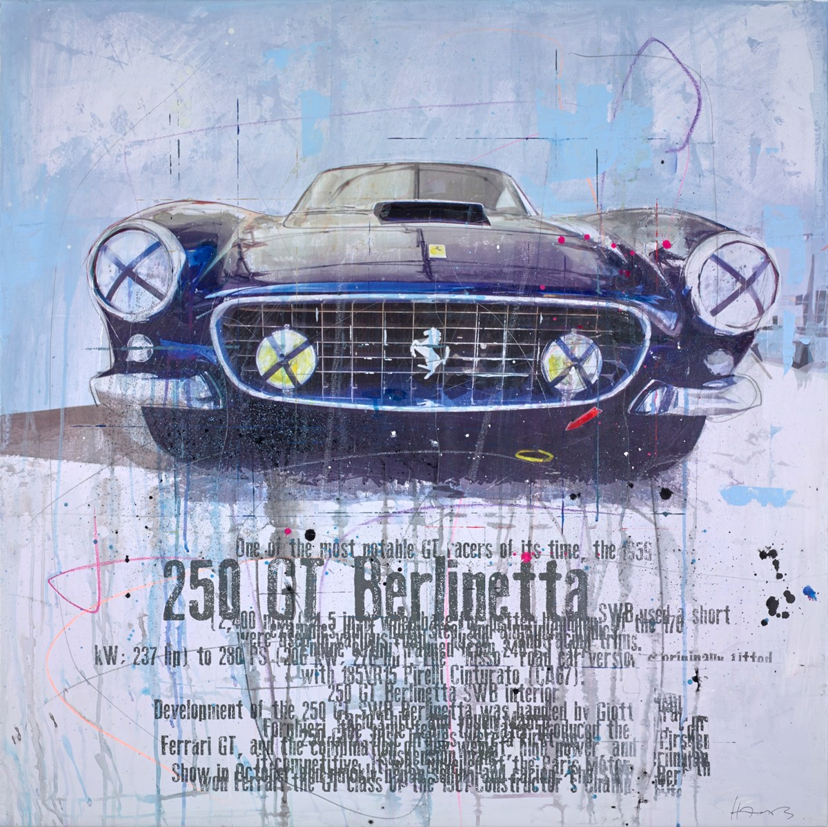 The 250 GT Berlinetta by markus haub -  sized 39x39 inches. Available from Whitewall Galleries